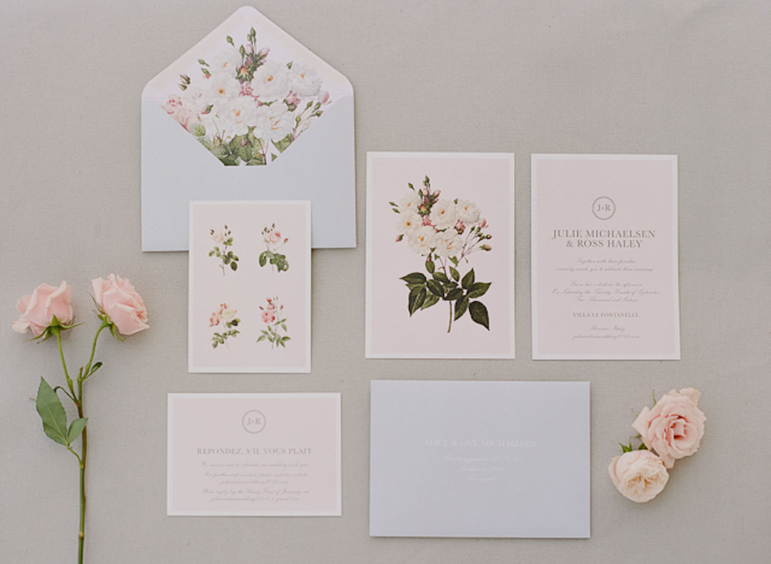 Fine art wedding planning designs, soft and romantic wedding stationery