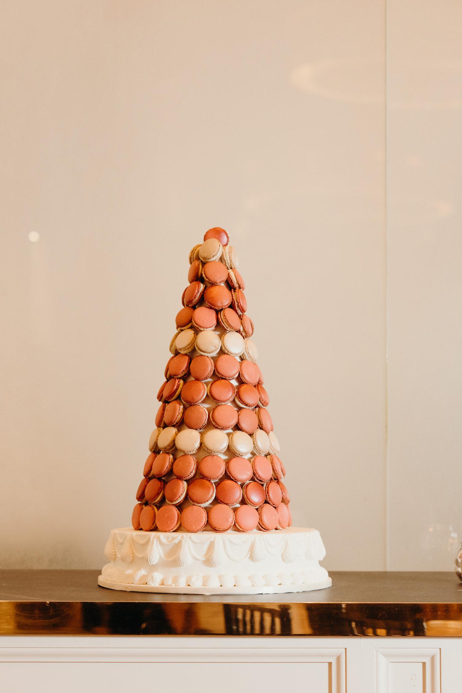 Luxury London wedding macaron tower