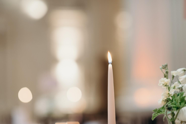 Romantic wedding candle design The Events Designers