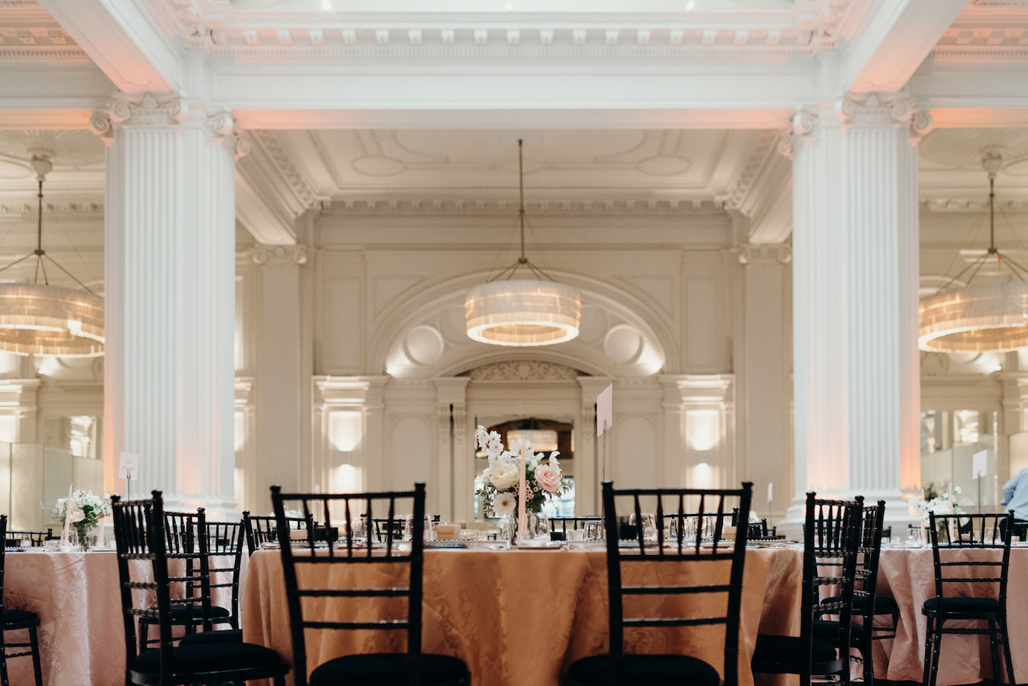 Luxury London Wedding tablescape design at 1901 Ballroom with The Events Designers